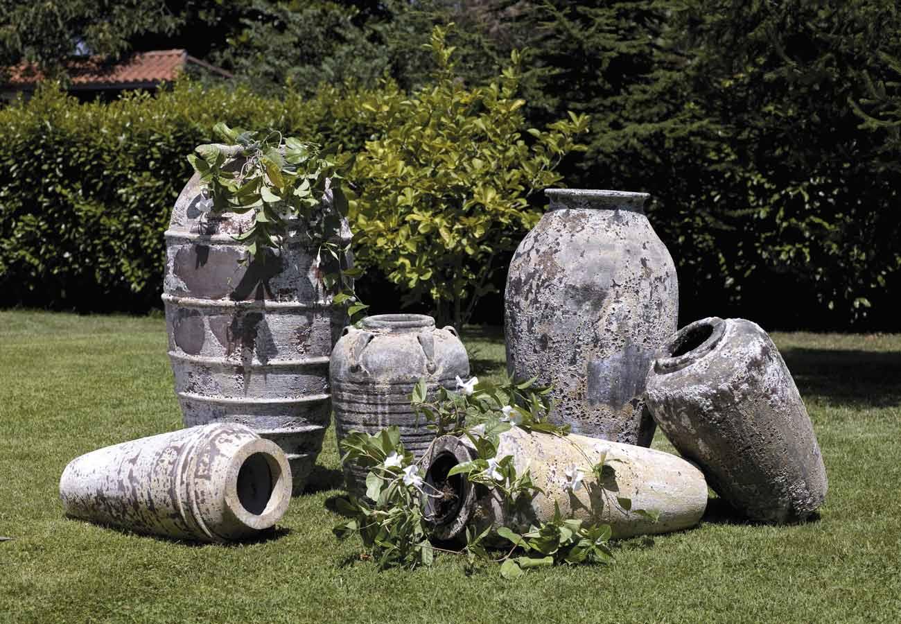 Anfore da giardino cool anfora terracotta orcio anfore - Giare da giardino ...